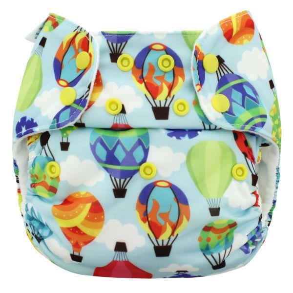 Blueberry - Simplex OneSize (AIO) - Bio-Baumwolle (GOTS) - Balloons