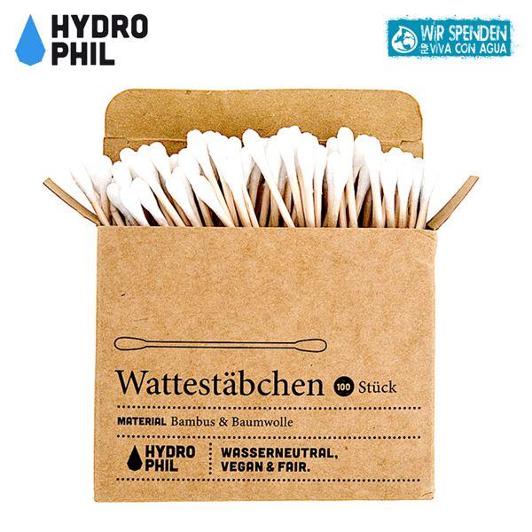 Hydrophil - Wattestäbchen (Bambus & Baumwolle) - 100 Stück