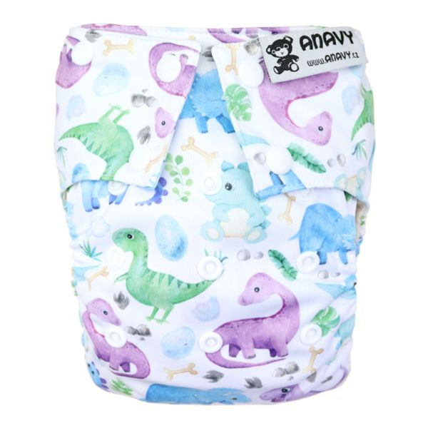 Anavy - Organic All-in-One Stoffwindel - Jurassic - One Size (4-17 kg)