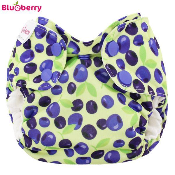 Blueberry Simplex Newborn (AIO) - Blueberries - (Bio-Baumwolle)