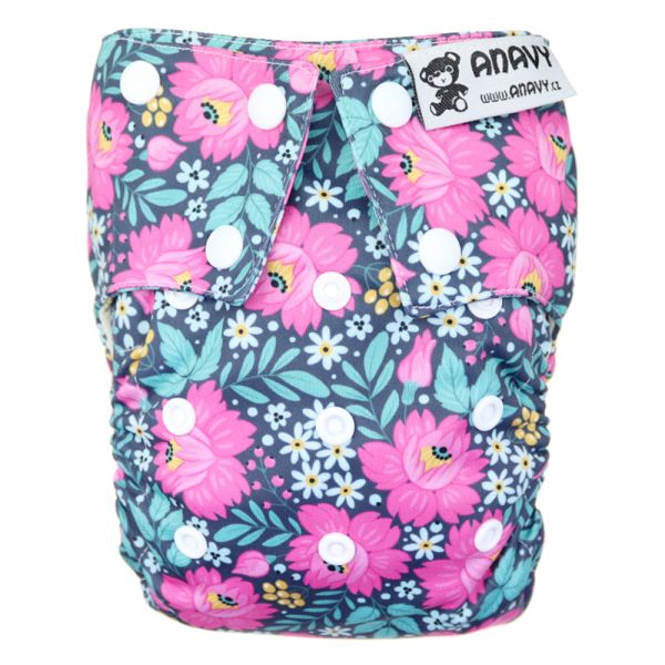 Anavy - Organic All-in-One Stoffwindel - Flowers - One Size (4-17 kg)