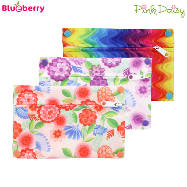 Blueberry - Pink Daisy - Mini Wetbag - XS (21x14 cm)