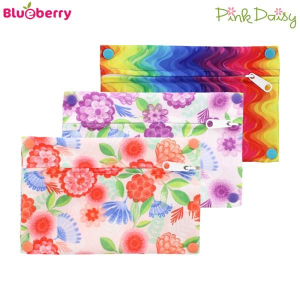 Blueberry - Pink Daisy - Mini Wetbag - XS (21x14 cm)