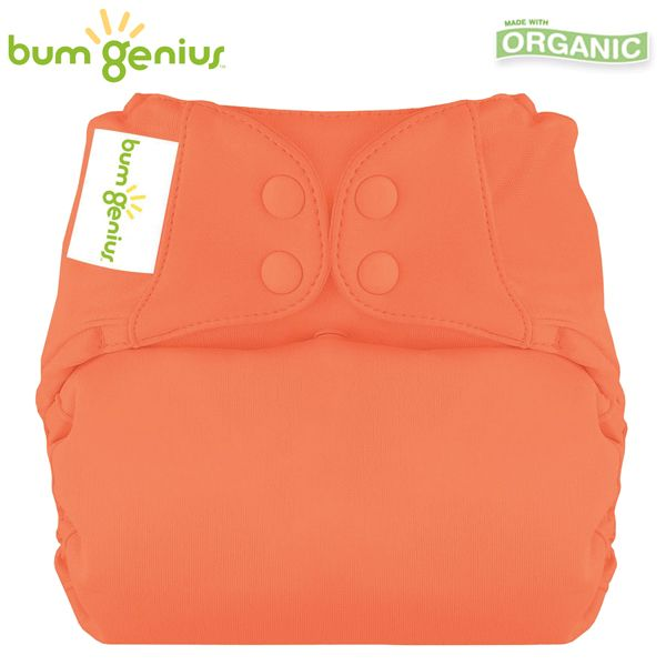 BumGenius Elemental V3.0 One Size (AIO) - Kiss (Orange)