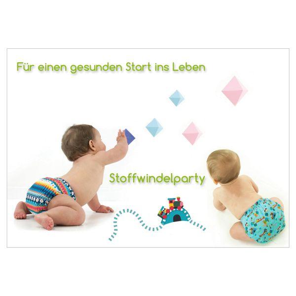 """Flyer - """"Stoffwindelparty"""" DINA6 - (je 50 Stück)"""