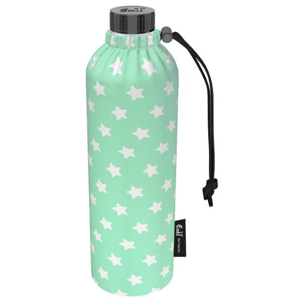 Emil die Flasche (750ml) - Komplettset (Bio-Baumwolle-Überzug) Weithals - Sterne Mint