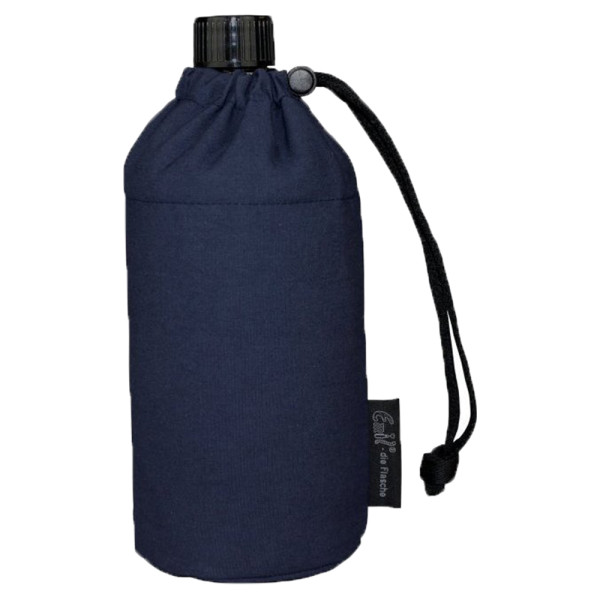Emil die Flasche (300ml) - Komplettset (Bio-Baumwolle-Überzug) - Blau