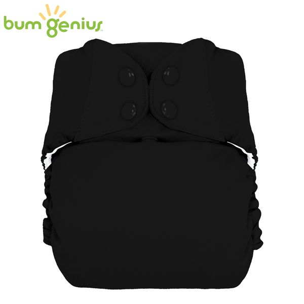 BumGenius XXL-Pocketwindel - BIG (16-32 kg) - Fearless (Schwarz)