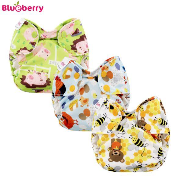 Blueberry Simplex Newborn (AIO) - Bio-Baumwolle GOTS - Sparpaket (3 Windeln)
