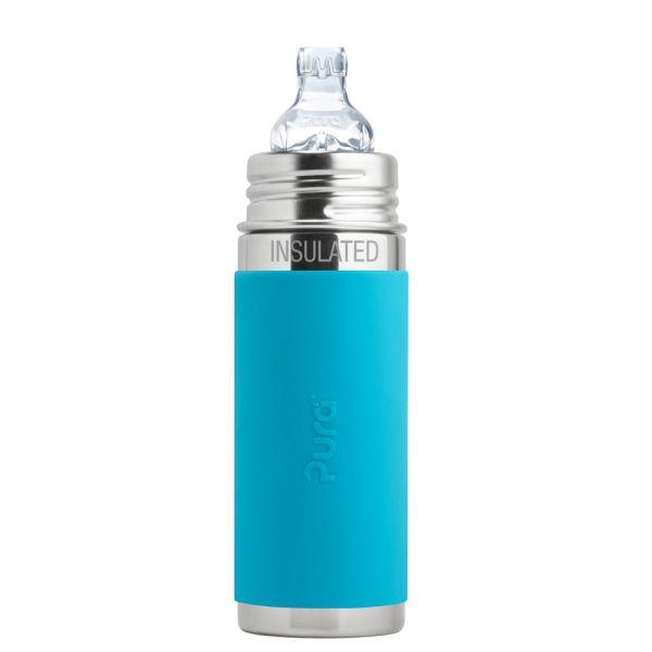 Pura Kiki ISO-Flasche 250ml XL Trinklernaufsatz Blau