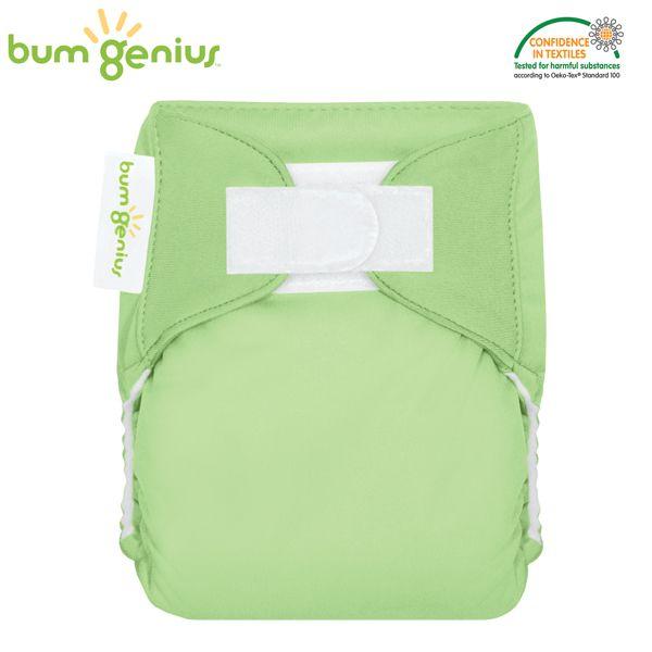 BumGenius Littles Newborn (AIO) - Grasshopper (Grasgrün)
