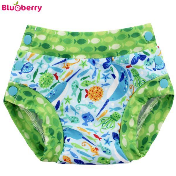 Blueberry Freestyle 2.0 Schwimmwindel - Narwhals