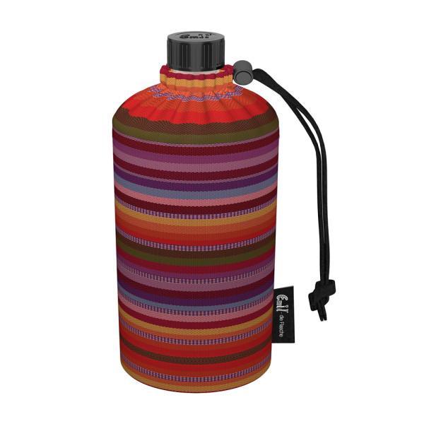 Emil die Flasche (300ml) - Komplettset (Bio-Baumwolle-Überzug) - Streifen