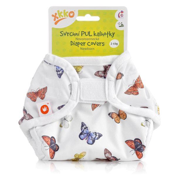 XKKO - Überhose (PUL) - Newborn (2-4 kg) - Schmetterlinge