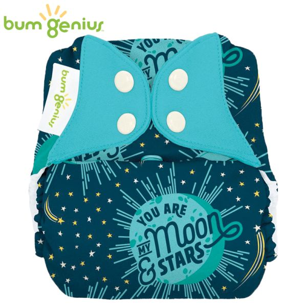 BumGenius V5.0 Pocketwindel One Size - My Moon (Muster)