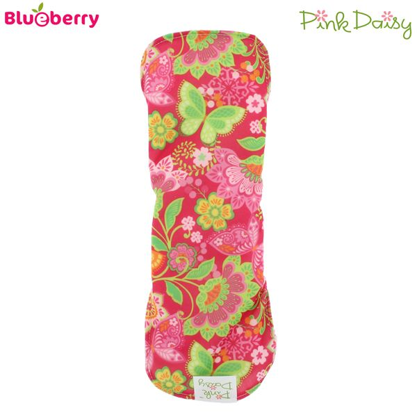 Blueberry - Pink Daisy - Damenbinden (Bio-Baumwolle) - Mini & Midi (S & M)