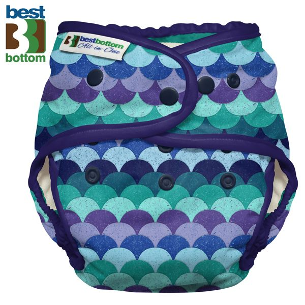 Best Bottom - Heavy Wetter AIO (One Size) - Mermaids Tail