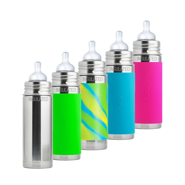 Pura Kiki ISO-Flasche 250ml Weithalssauger (inkl. Schutzkappe)