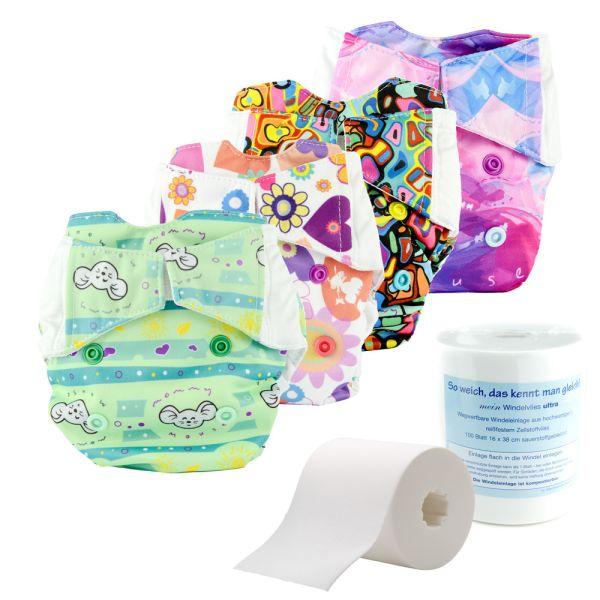 Mommy Mouse Komplettwindel (AIO) - Einsteiger Paket Newborn (2,5-7 kg)