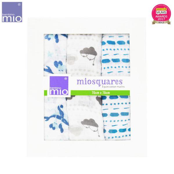 Bambino Mio - MioSquares (Mullwindeln) 70x70cm - 3 Stück