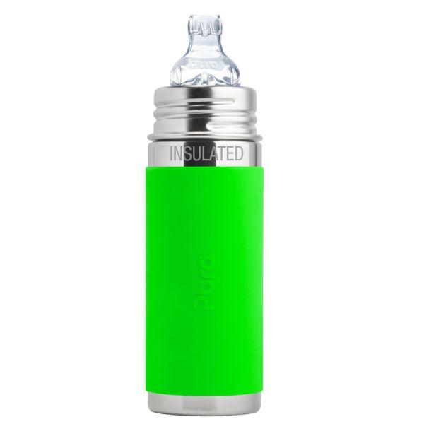 Pura Kiki ISO-Flasche 250ml XL Trinklernaufsatz Grün