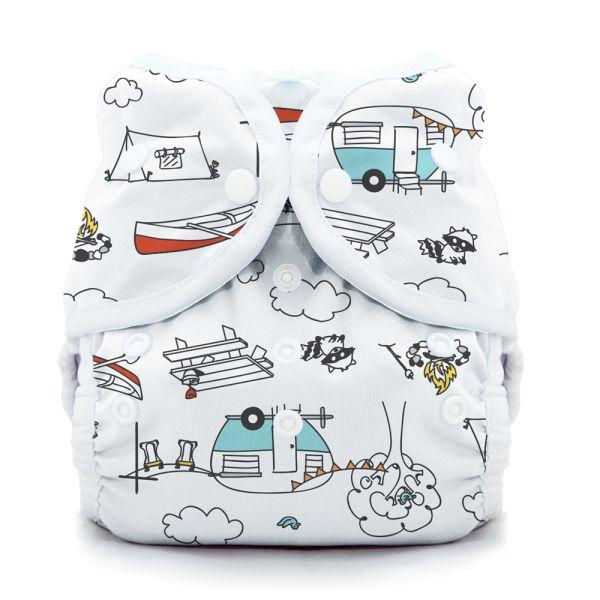Thirsties - DUO Wrap - Überhose - Happy Camper (Druck- & Klettverschluss)