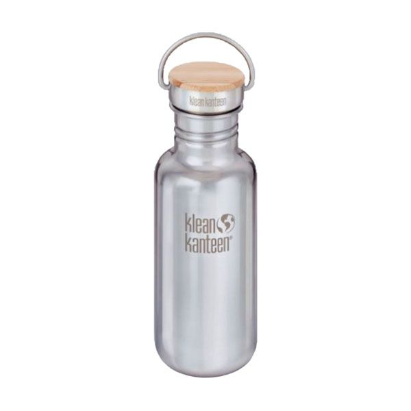 Klean Kanteen - Reflect - Bambusdeckel (532ml) - Mirrored Stainless (glänzend)