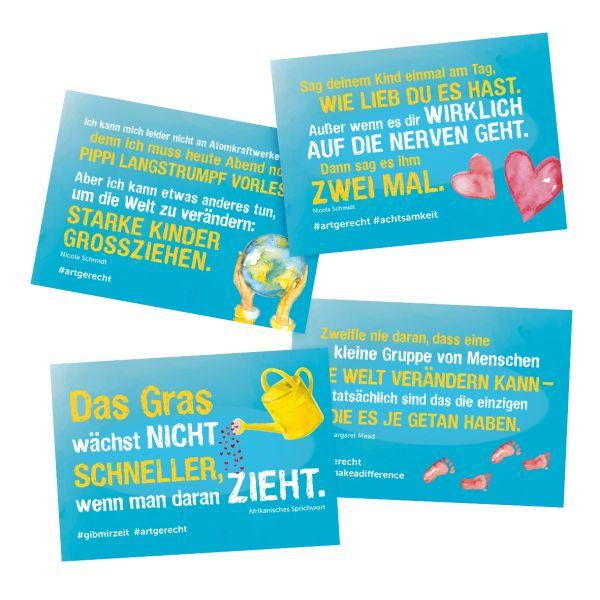 Postkarten-Set - 4 x 10 Stück