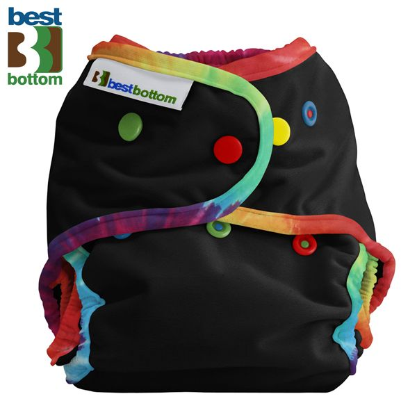 Best Bottom Diapers (PUL) Überhosen - One Size - Black Daze