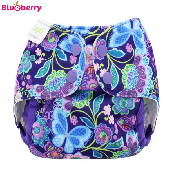 Blueberry Capri Überhose - Butterfly Garden (Druckies)