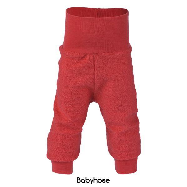 Engel - Lange Baby- & Kinder-Wollüberhose (100% Bio-Merino Wollfrottee) - Rot