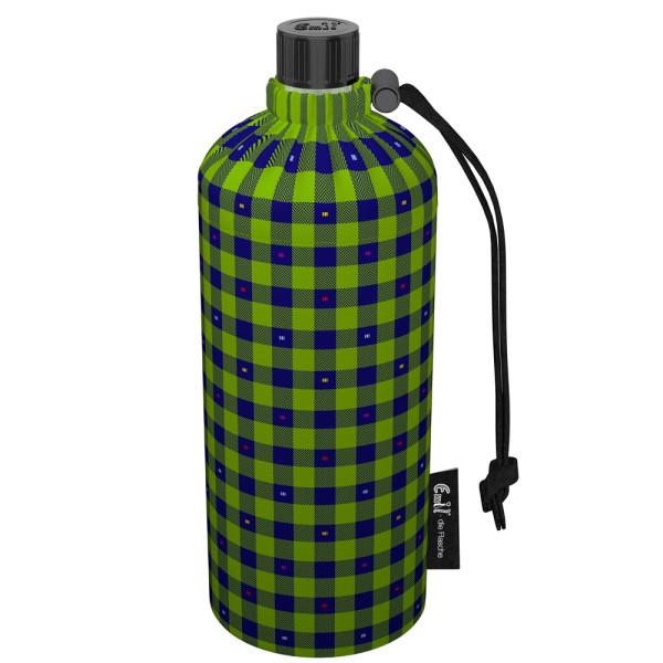 Emil die Flasche (600ml) - Komplettset (Bio-Baumwolle-Überzug) - Karo