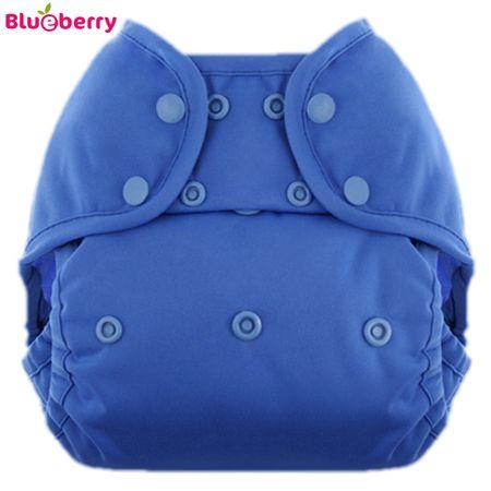 "Blueberry Überhose Coveralls - Einfarbig - ""Marina"" (Blau) (Druckies)"