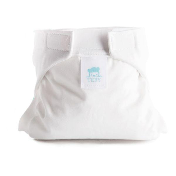"""Culla di Teby (AI3) - """"Classic"""" Baumwolle Hybridwindel - (EINZELN) - Weiß"""