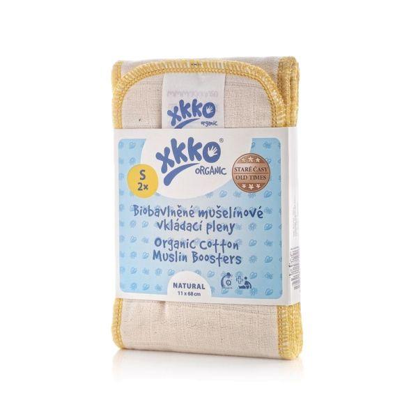 XKKO - Saugeinlagen - 100% Bio-Baumwolle (Alte Zeiten) - 2 Stück