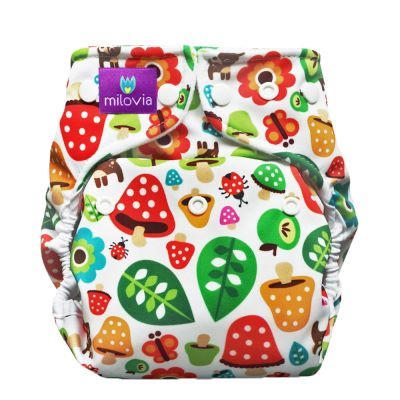 Milovia - Microfleece Pocketwindel (One Size) - Toadstool