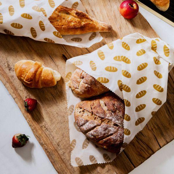 Nuts - Brottuch aus Bienenwachs (100% natürliche Materialien) - 43x58cm