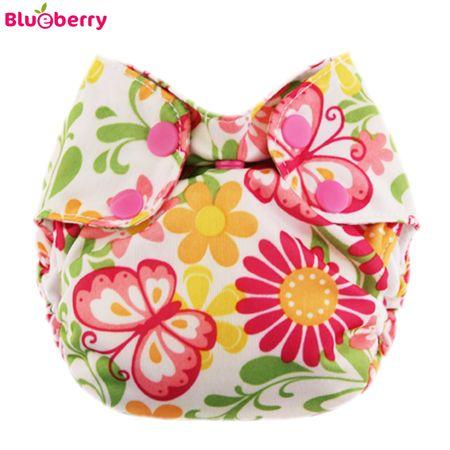 Blueberry Simplex Newborn (AIO) - Butterfly - (Bio-Baumwolle)