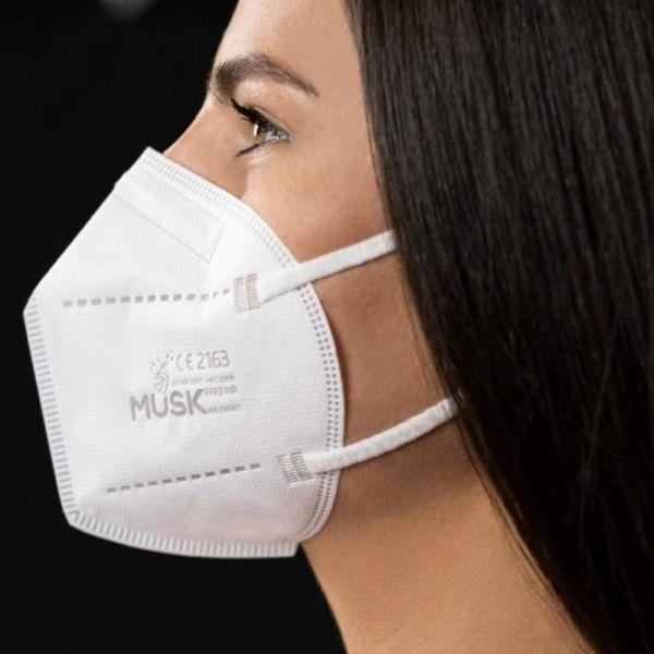 FFP2 Atemschutz Maske - 5 lagig - Weiß