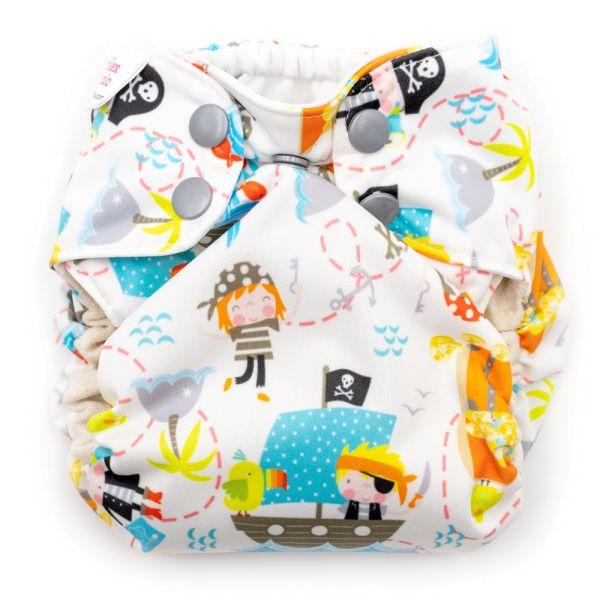 Blueberry - Simplex Newborn (AIO) - Bio-Baumwolle (GOTS) - Pirates