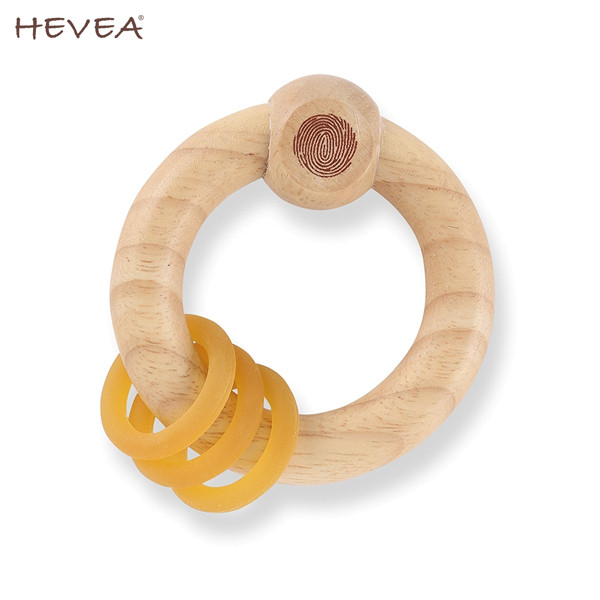 Hevea - Rassel - 100% Kautschuk Holz & Naturkautschuk (Holzrassel)
