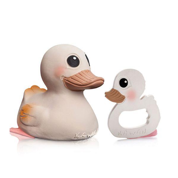 "Hevea - Ente ""Kawan"" Sparpaket - große Ente ""Kawan"" & Beißring"