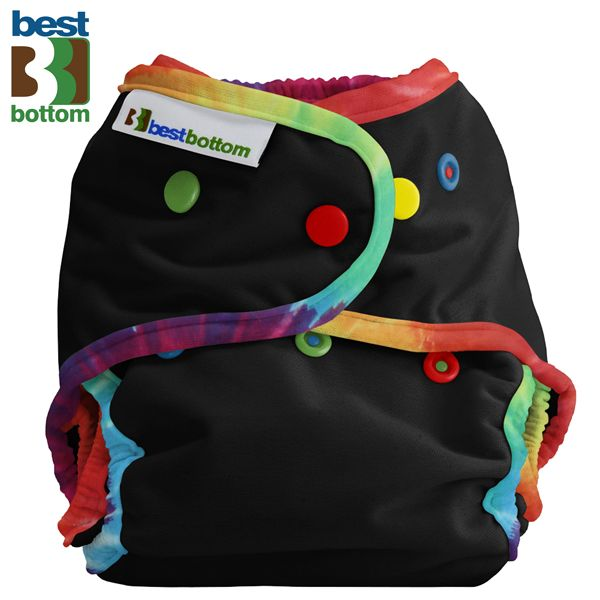 Best Bottom - Schwimmwindel (One Size) - Black Daze