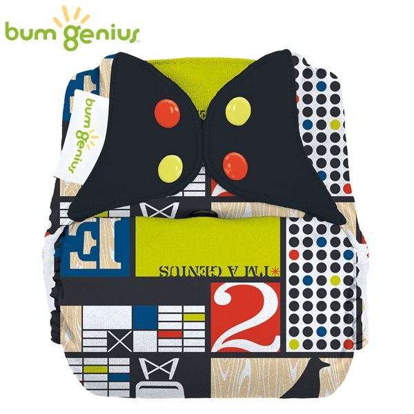 BumGenius Freetime One Size (AIO) - Mid Century (Muster)
