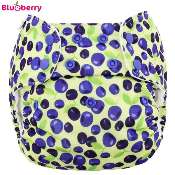 Blueberry Simplex One Size (AIO) - Bio-Baumwolle GOTS - Blueberries