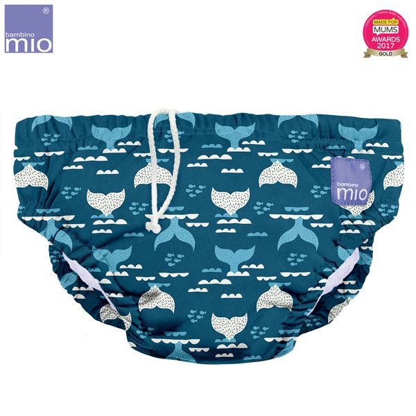 Bambino Mio - waschbare Schwimmwindel - Blue Tail (S-XL)