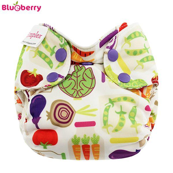 Blueberry - Simplex Newborn (AIO) - Bio-Baumwolle (GOTS) - Veggies