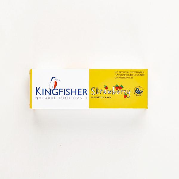 Kingfisher - vegane Kinderzahnpasta - Fluorid-frei (ohne künstliche Zusätze) - Erdbeere