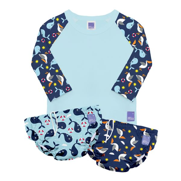 Bambino Mio - Schwimm SET (2x Schwimmwindel & Schwimmshirt) - Nautical