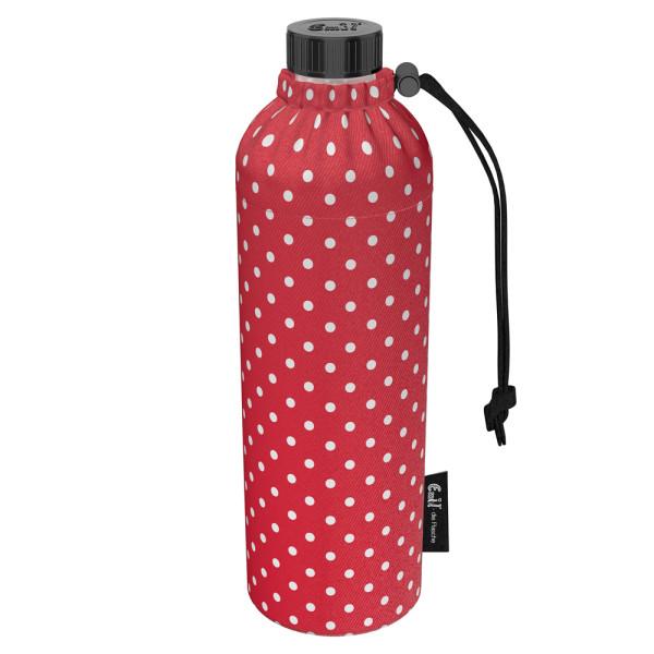 Emil die Flasche (750ml) - Komplettset (Bio-Baumwolle-Überzug) Weithals - Punkte Rot